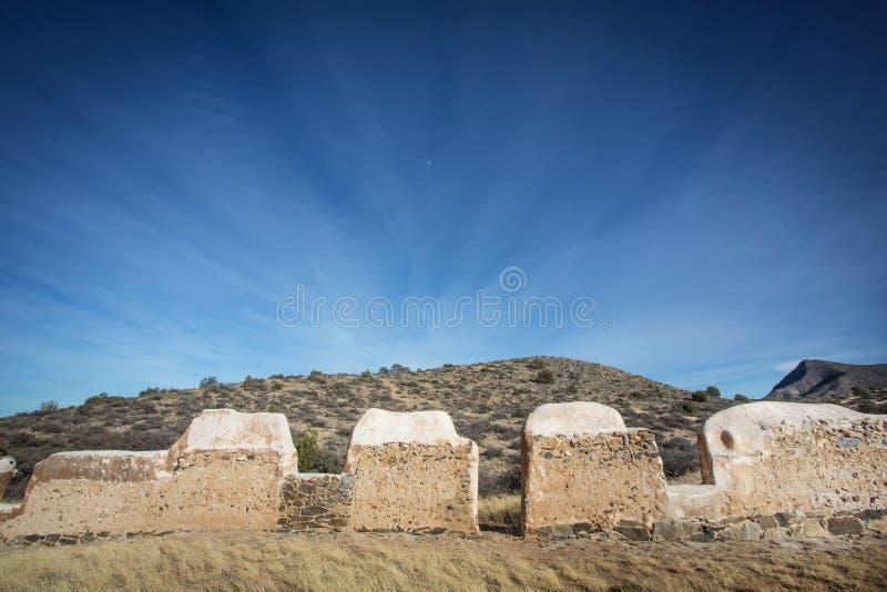 Каменный американский форт гражданской войны стоковое фото rf