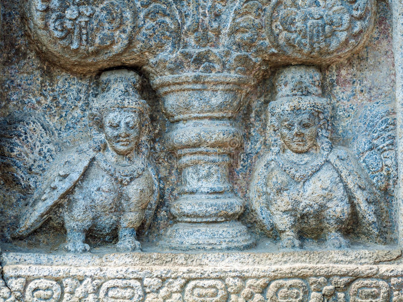 Каменный высекать виска Prambanan индусского, Yogyakarta, Ява стоковое фото