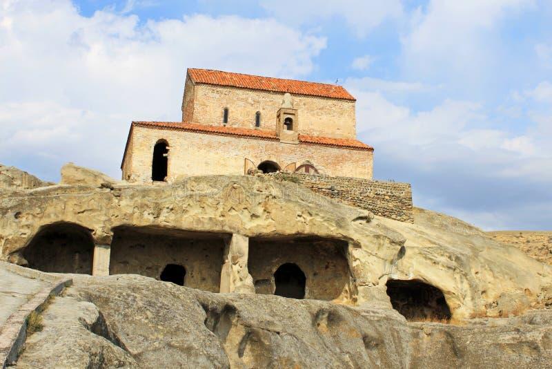 Каменный город - Uplistsikhe в Грузии стоковая фотография