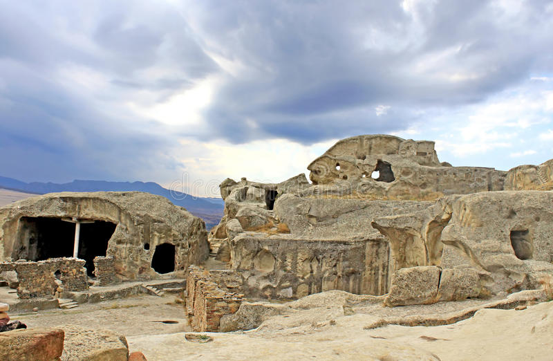 Каменный город - Upliscikhe стоковое изображение rf