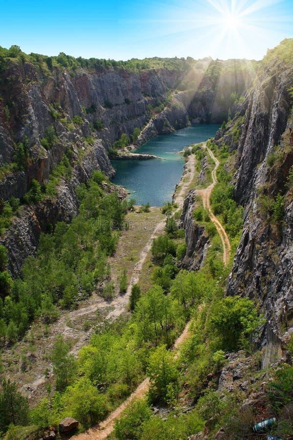 Каменный карьер большая Америка около Праги, чехии стоковые фото