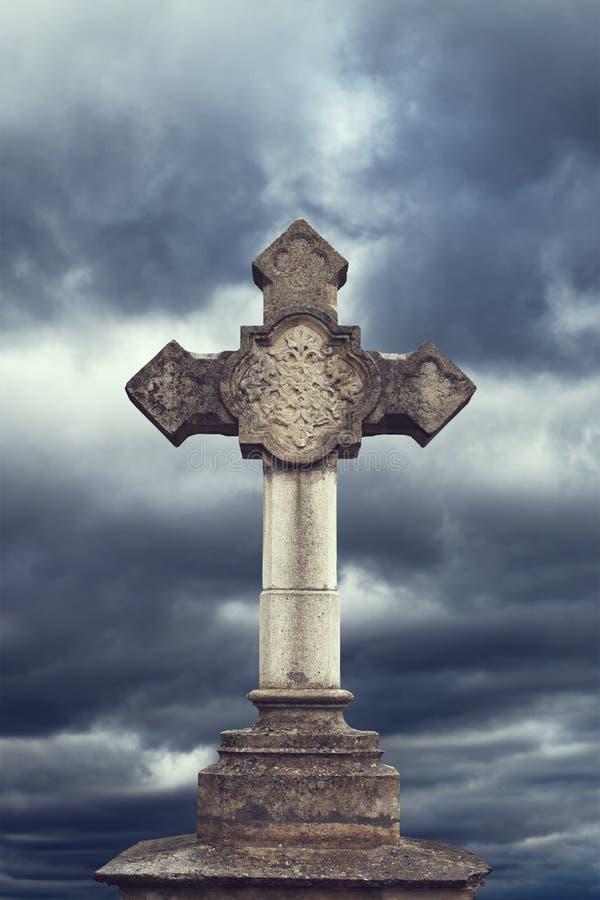 Каменный крест стоковое фото rf