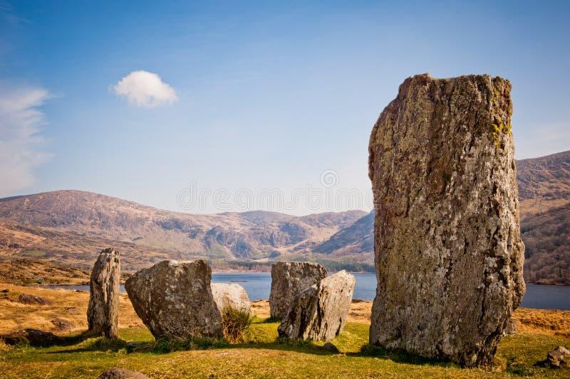 Каменный круг, Ирландия стоковое изображение