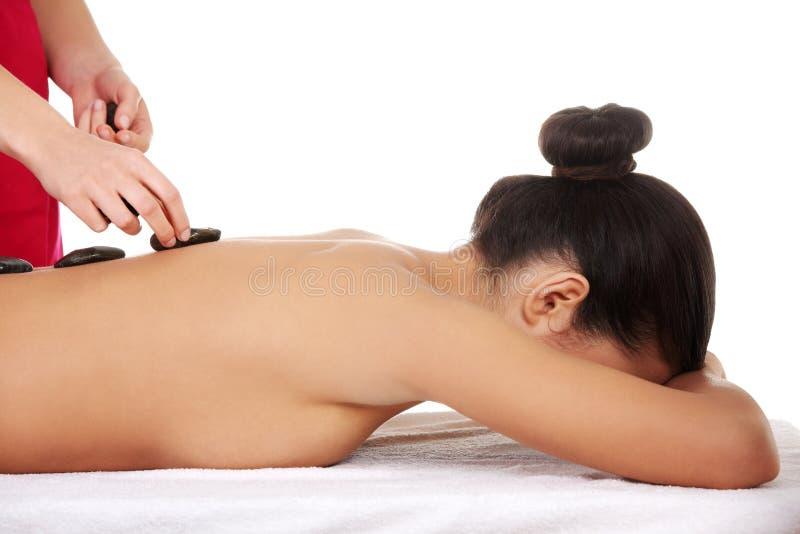 Каменный массаж. стоковые изображения rf