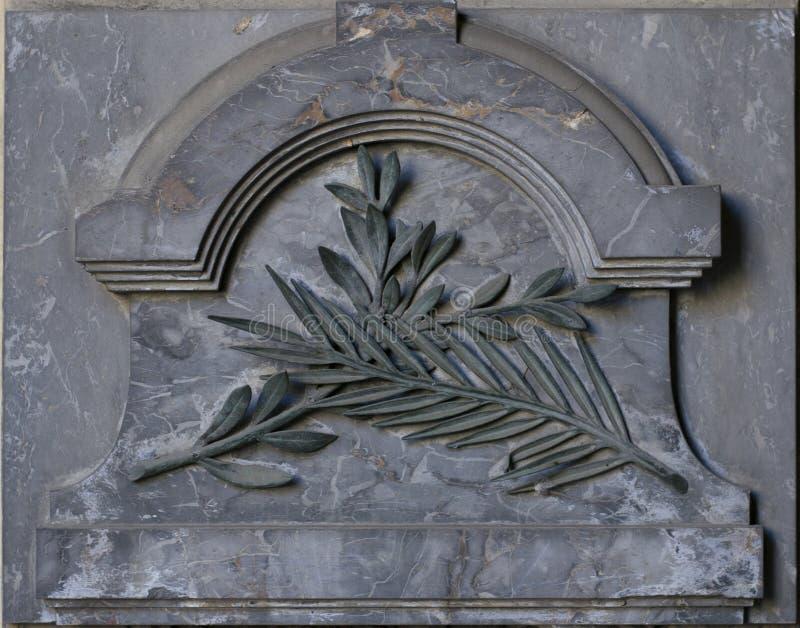 Каменный орнамент (картина лист) стоковая фотография