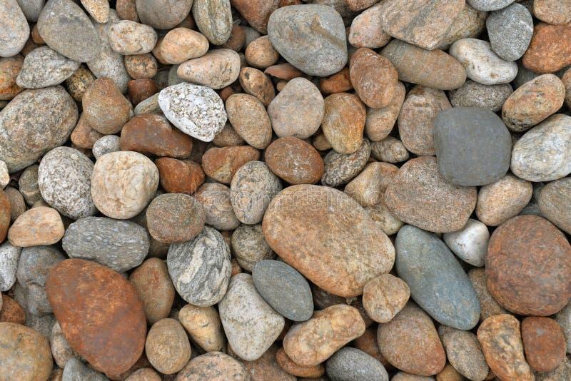 Каменный пляж Предпосылка камней реки стоковые фото