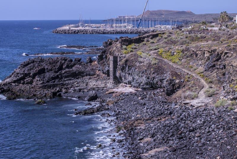 Каменный пляж Тенерифе стоковые изображения rf