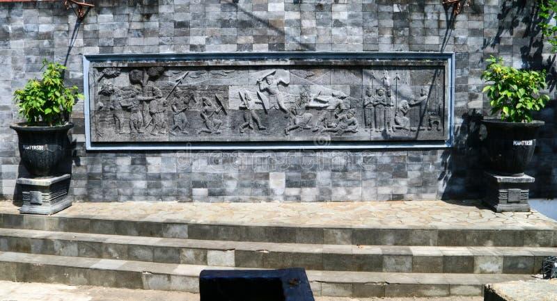 Каменный сброс в Magelang стоковые изображения rf