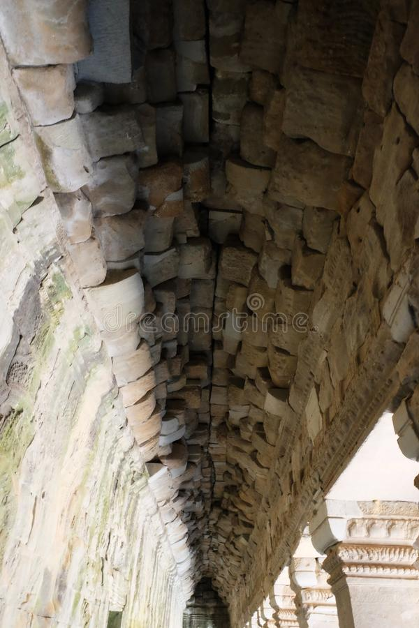 Каменный свод старого здания Старая каменная кладка стоковые фотографии rf