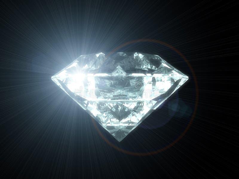 камень диаманта иллюстрация вектора