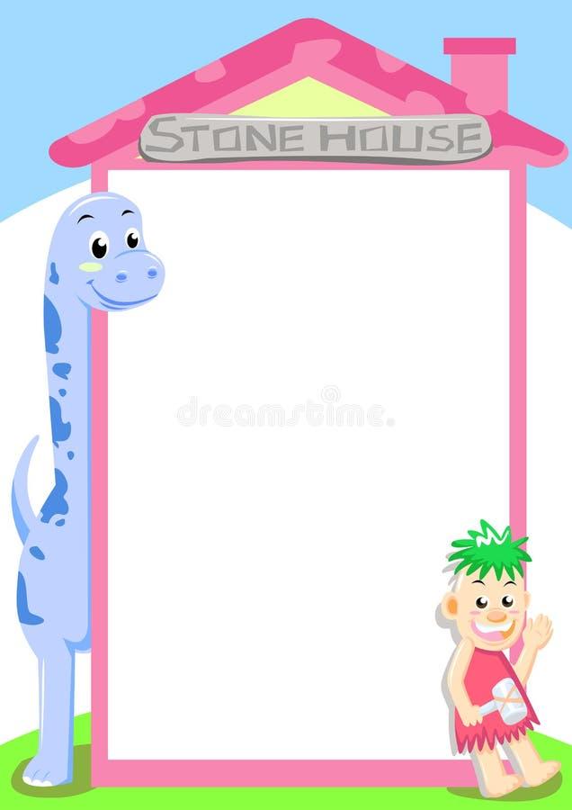 камень дома dino иллюстрация вектора