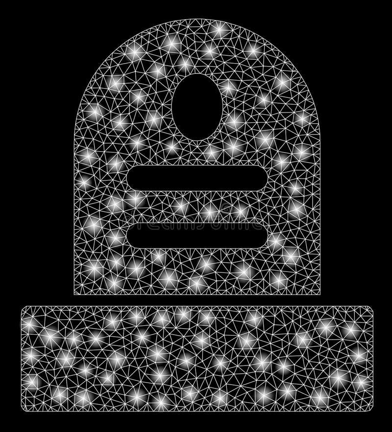 Камень лоснистой сетки 2D серьезный с внезапными пятнами иллюстрация штока