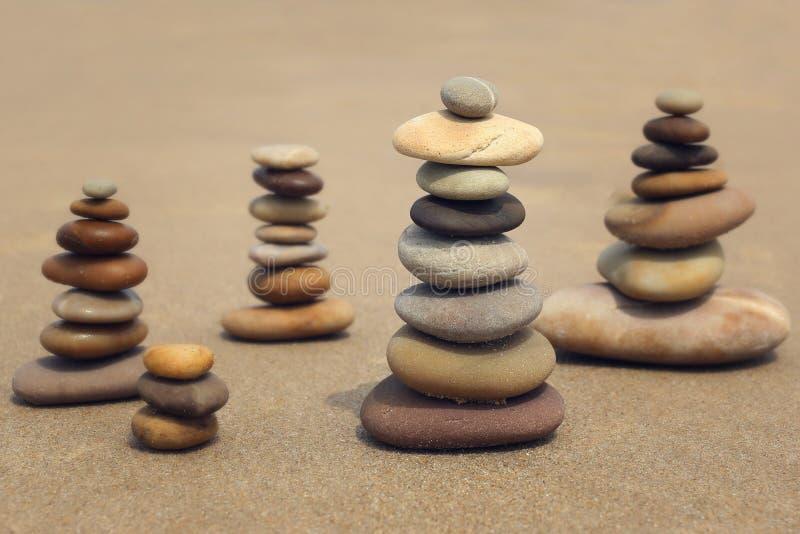 Камень на пляже Стоковое фото RF