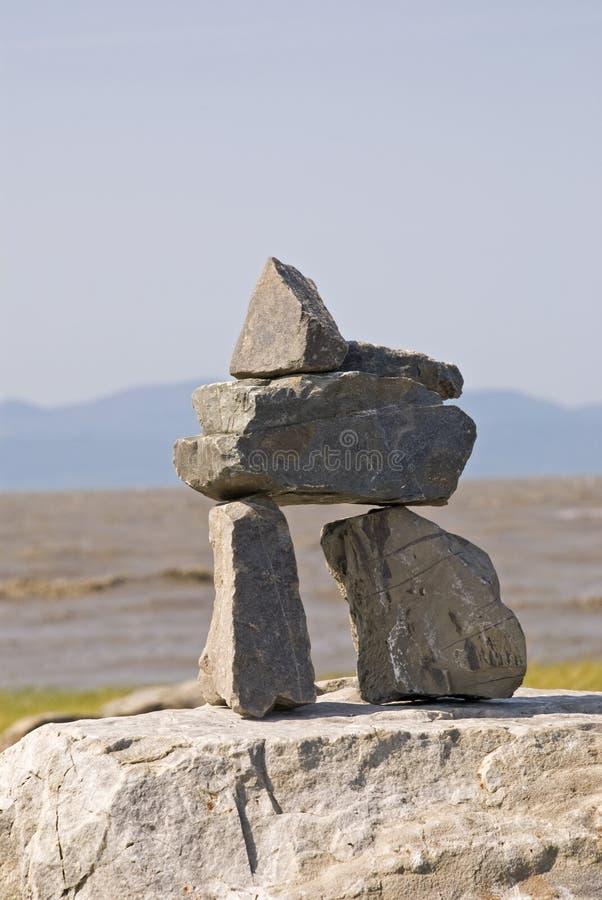 камень отметки inukshuk стоковая фотография