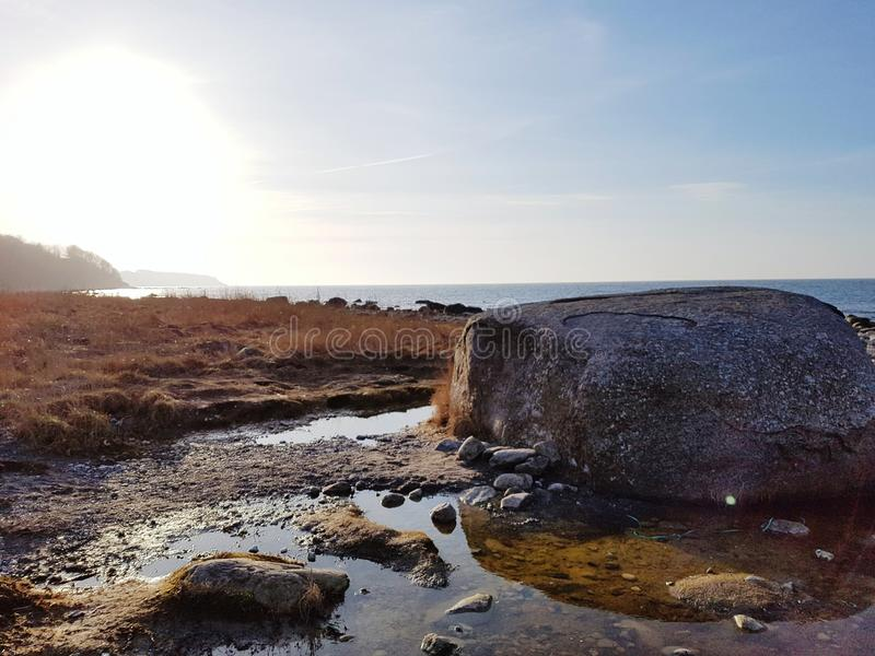 Камень 7 портноев в Kap Arkona стоковая фотография rf