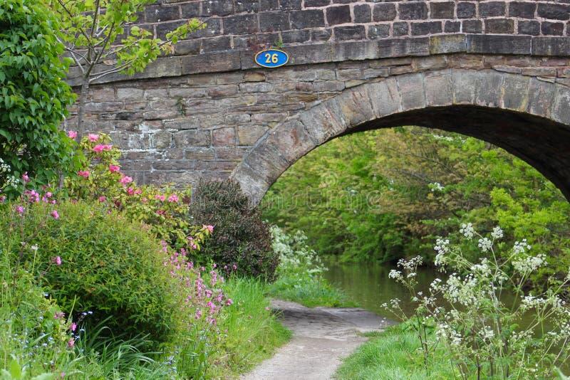 Камень построил мост канала стоковая фотография rf