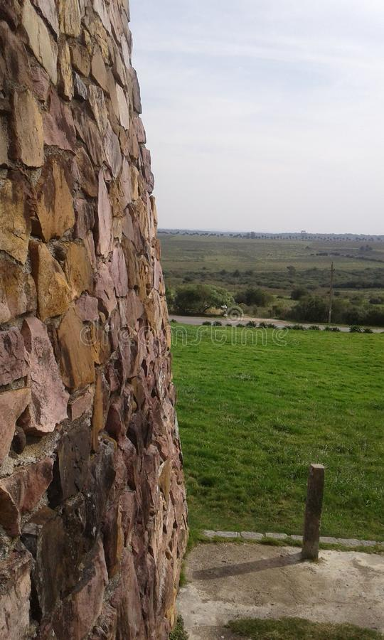 Камень против природы Maldonado, Уругвай стоковые изображения