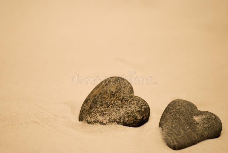 камень сердец стоковое изображение