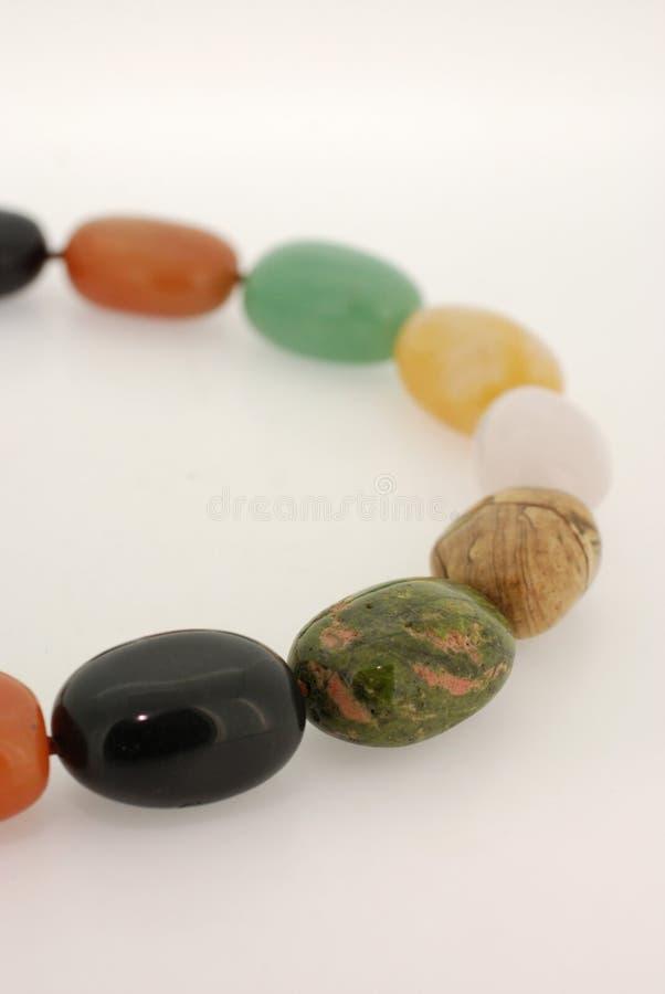камень цветастого ожерелья самоцветный стоковое изображение rf