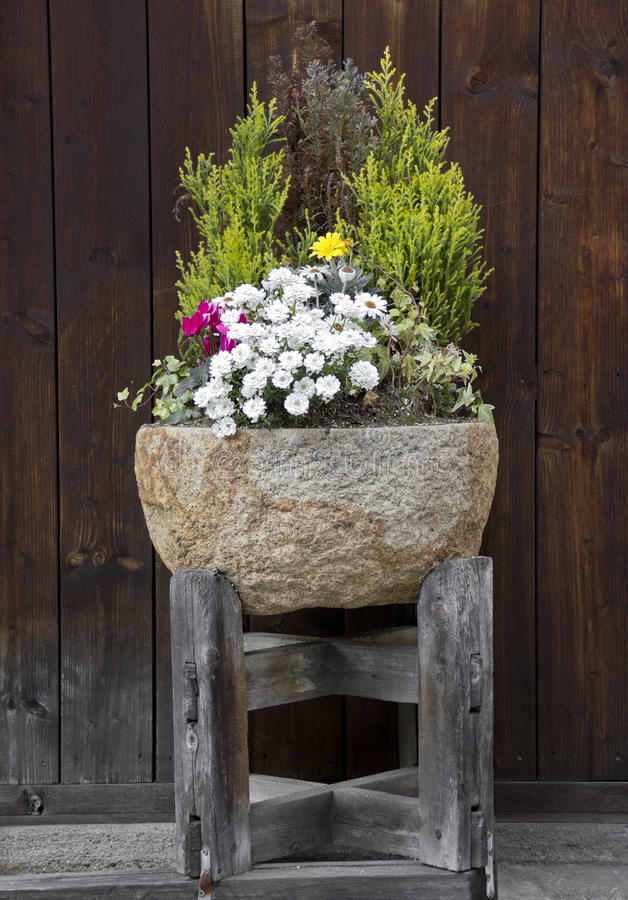 камень цветочного горшка стоковые изображения