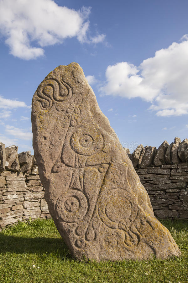 Камень Aberlemno Pictish стоковые изображения