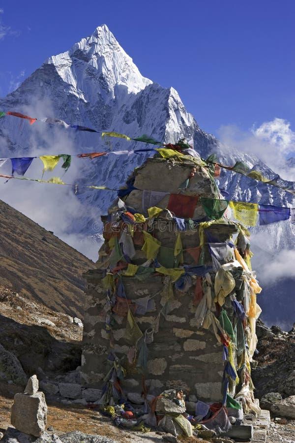 камень mani Гималаев стоковые изображения