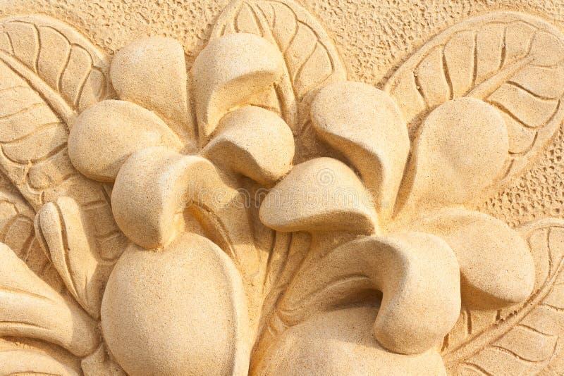 камень plumeria конструкции корабля искусства стоковая фотография