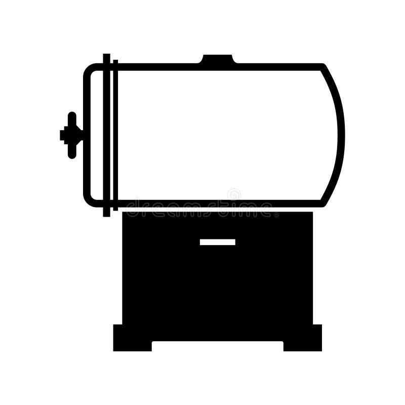 Камера давления автоклава иллюстрация штока