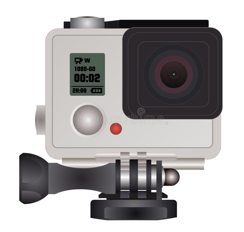 Камера действия в водоустойчивой коробке иллюстрация вектора