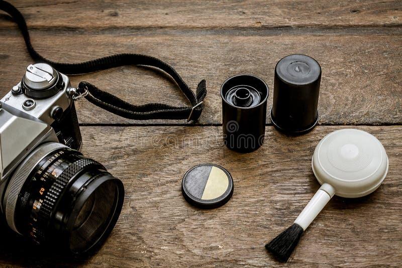 Камера на деревянном стоковое фото rf