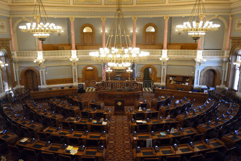 Камера Палаты Представителей капитолия положения Канзаса стоковые фото
