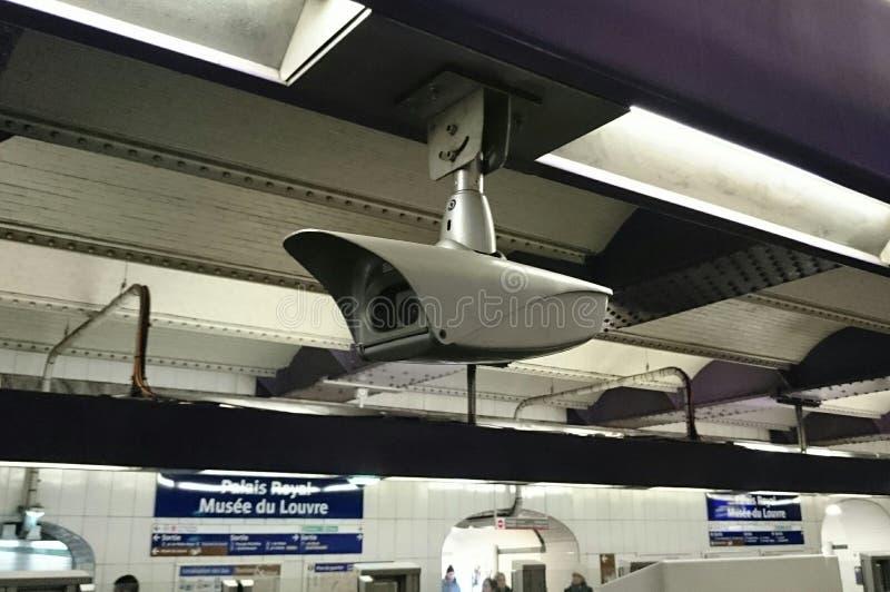Камера слежения на метро стоковое фото rf