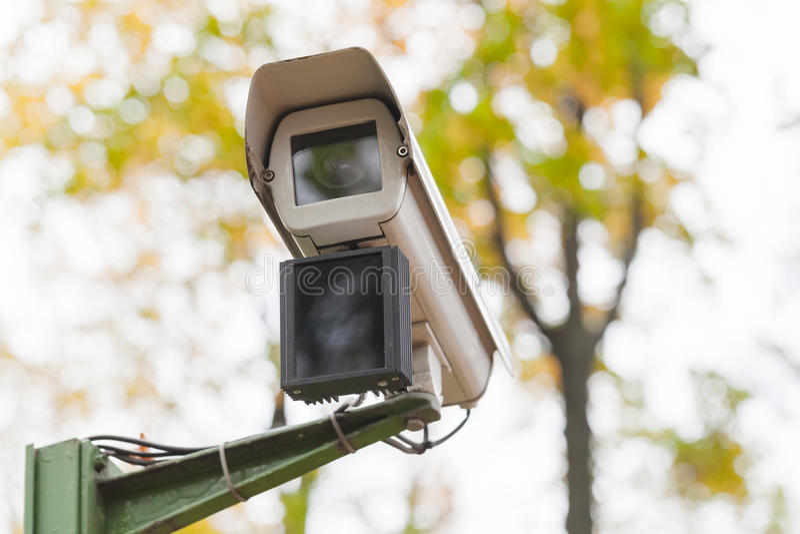 Камера слежения с детектором движения стоковое фото