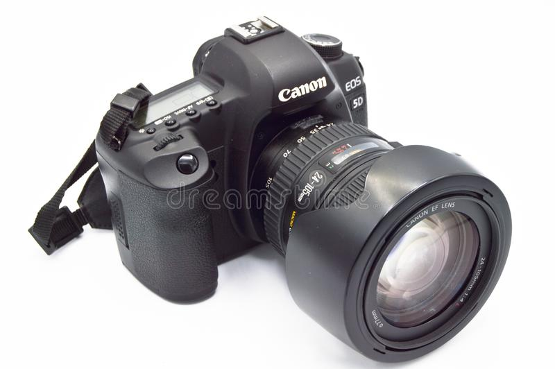 Камера тела цифровая SLR EOS 5D Марк II канона стоковое фото