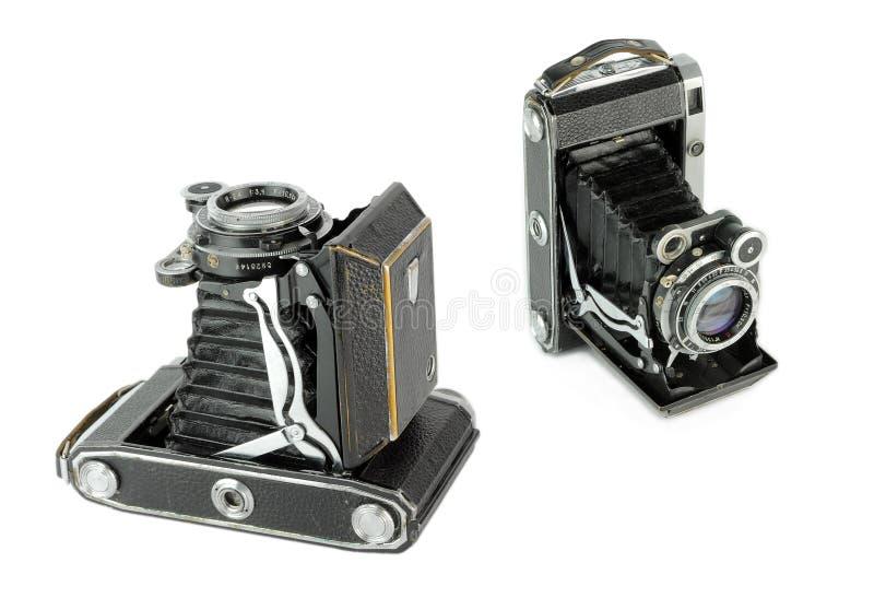 Камера фильма средств формата портативная винтажная складывая стоковые изображения