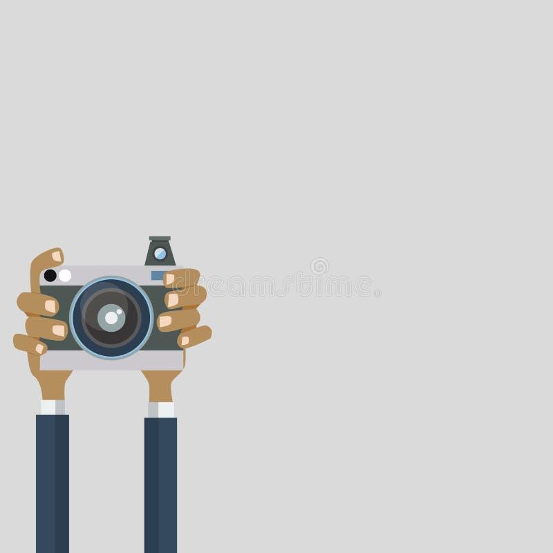 Камера фото с рукой стоковые фотографии rf