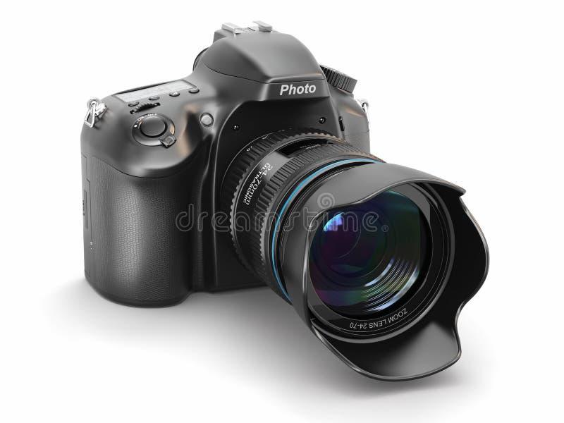 Камера фото цифров на белой предпосылке. бесплатная иллюстрация