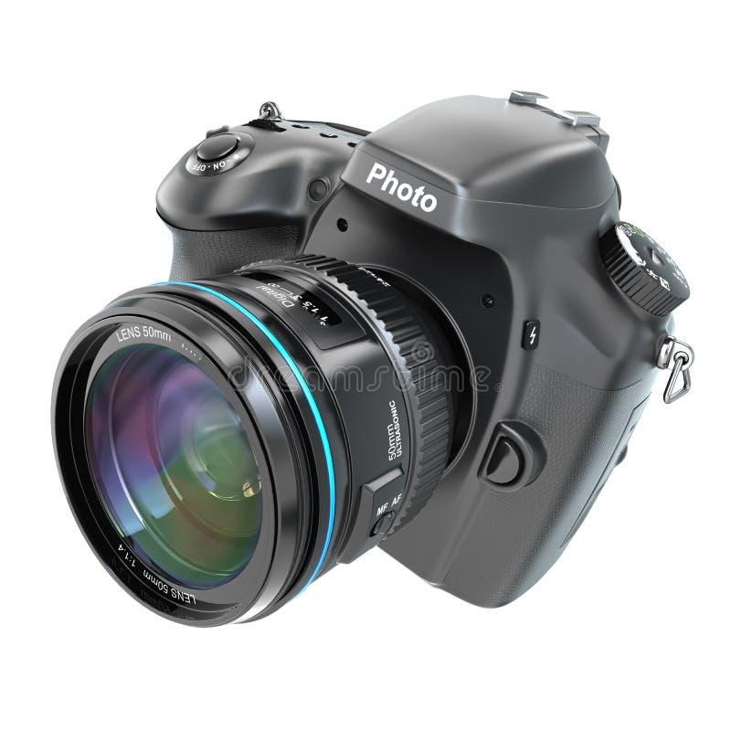 Камера фото DSLR цифров isolted на белизне бесплатная иллюстрация