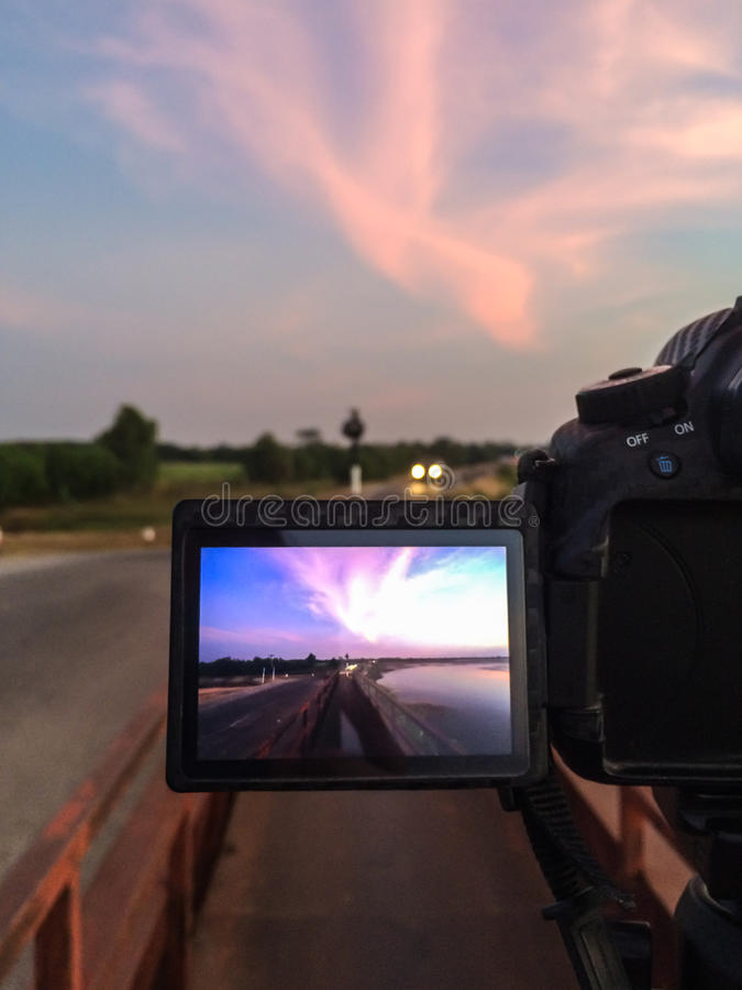 Камера экрана фотографируя резервуара стоковые изображения