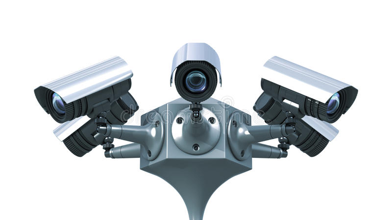 Камеры слежения иллюстрация вектора