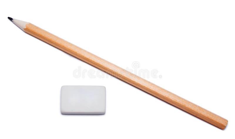 Камедь карандаша и ластика стоковое фото