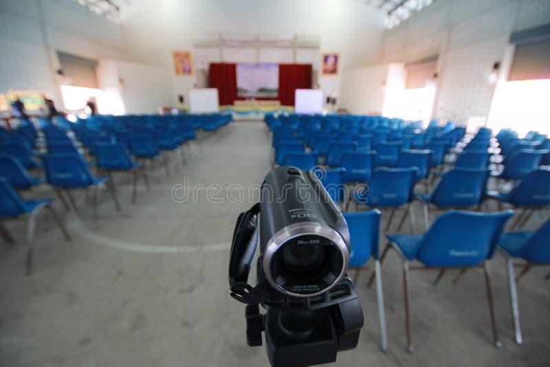 Камкордер подготовки для записывая кино parcip общины стоковые фото