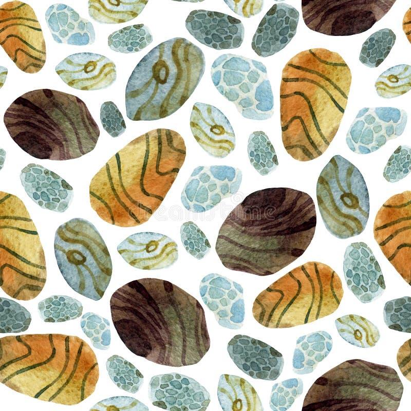 Камни акварели иллюстрация штока