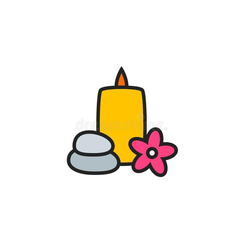 Камни, вектор свечи и значка Plumeria плоские, символ или логотип иллюстрация штока