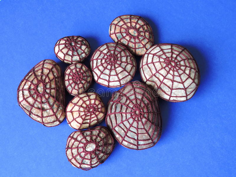 Камни вязания крючком стоковое фото rf