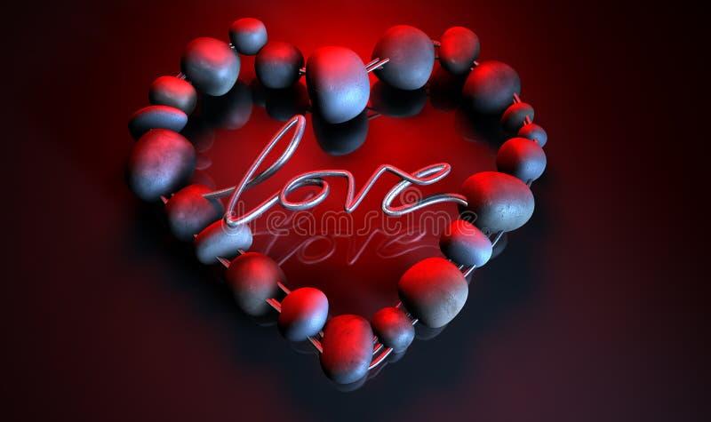 Камни влюбленности сердца иллюстрация штока
