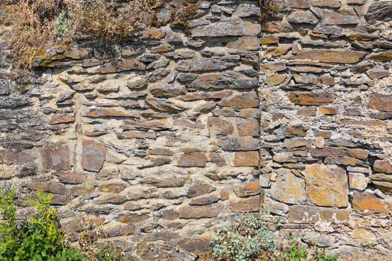 Камни предпосылка и текстура средневековой стены замка стоковое фото rf