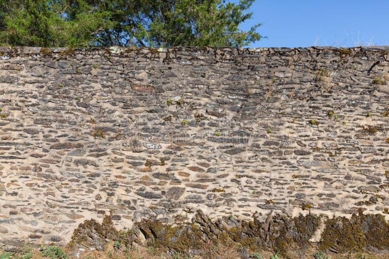 Камни предпосылка и текстура средневековой стены замка стоковое изображение
