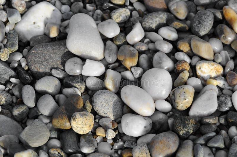 Камни предпосылка реки или пляжа, текстура стоковое изображение