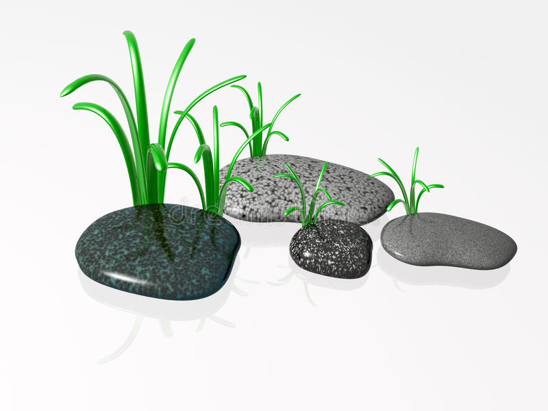 камни спы иллюстрация вектора